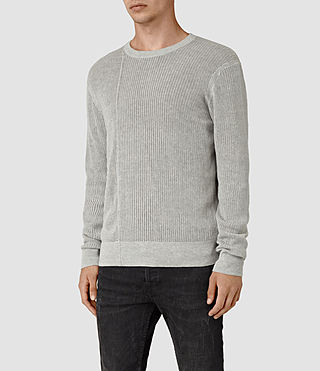 Hommes Marrin Crew Jumper (Light Grey Marl) - product_image_alt_text_2
