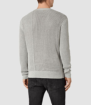 Hommes Marrin Crew Jumper (Light Grey Marl) - product_image_alt_text_3