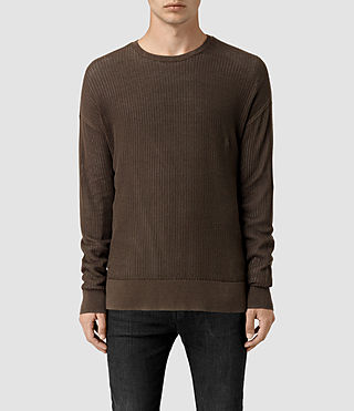 Men's Skomer Crew Jumper (Olive Green) -