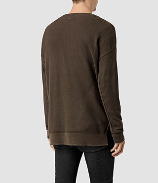 Men's Skomer Crew Jumper (Olive Green) - product_image_alt_text_4