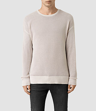 Mens Skomer Crew Sweater (OYSTER WHITE) - product_image_alt_text_1