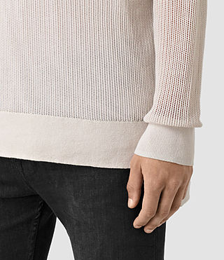 Mens Skomer Crew Sweater (OYSTER WHITE) - product_image_alt_text_2