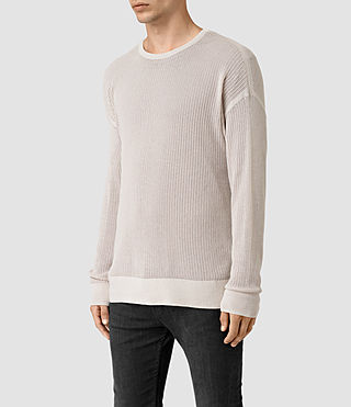 Hombre Skomer Ls Crew (OYSTER WHITE) - product_image_alt_text_3