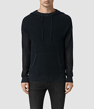 Hommes Skomer Knitted Hoody (INK NAVY)