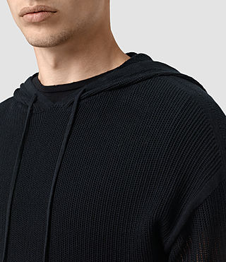 Hommes Skomer Knitted Hoody (INK NAVY) - product_image_alt_text_2