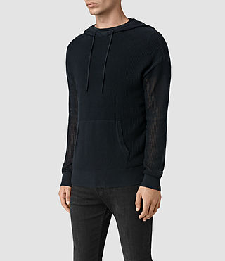 Hommes Skomer Knitted Hoody (INK NAVY) - product_image_alt_text_3
