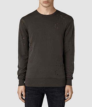 Mens Lorakk Crew Sweater (Khaki Brown)