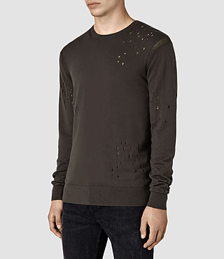 Hombre Lorakk Crew Sweater (Khaki Brown) - product_image_alt_text_3