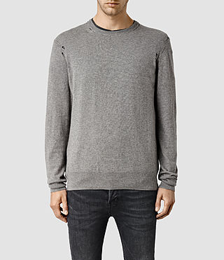 Men's Henllan Crew Jumper (Grey Marl)