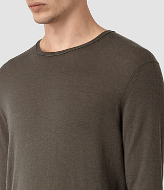 Hombre Riviera Cashmere Crew Sweater (Military Brown) - product_image_alt_text_2