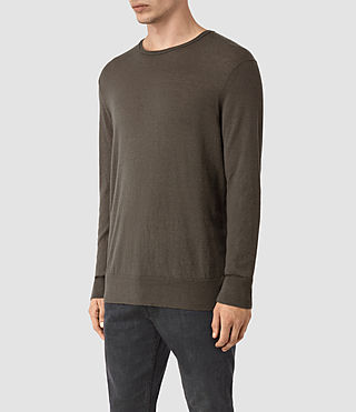 Men's Riviera Crew Jumper (Military Brown) - product_image_alt_text_3