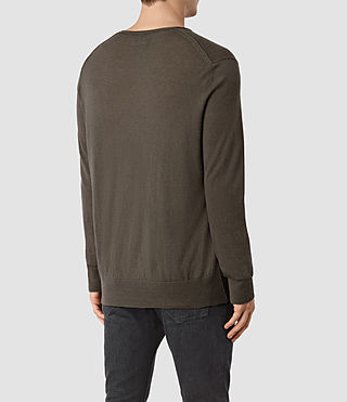 Hombre Riviera Cashmere Crew Sweater (Military Brown) - product_image_alt_text_4