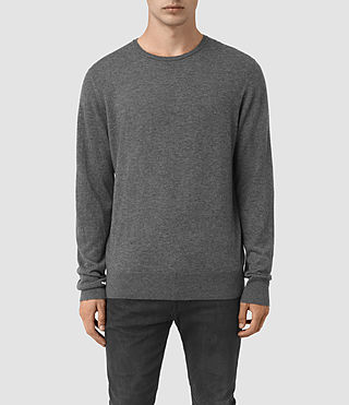 Mens Riviera Crew Sweater (Charcoal Marl)