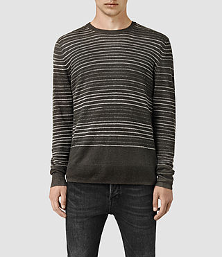 Mens Brakken Crew Sweater (Khaki Brown) - product_image_alt_text_1