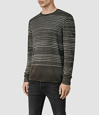 Mens Brakken Crew Sweater (Khaki Brown) - product_image_alt_text_2
