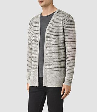 Hommes Brakken Cardigan (Grey Marl) - product_image_alt_text_2