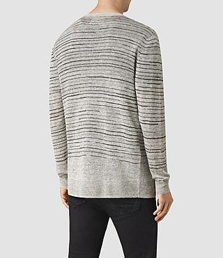 Hommes Brakken Cardigan (Grey Marl) - product_image_alt_text_3