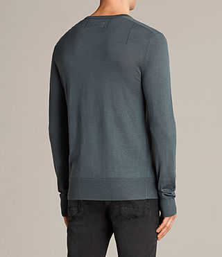 Mens Mode Merino V Neck Sweater (FLINT GREEN) - product_image_alt_text_4