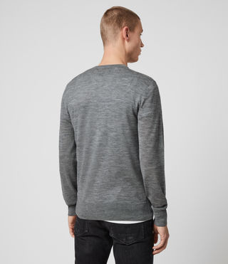 Men's Mode Merino Crew Jumper (Grey Marl) - Image 4