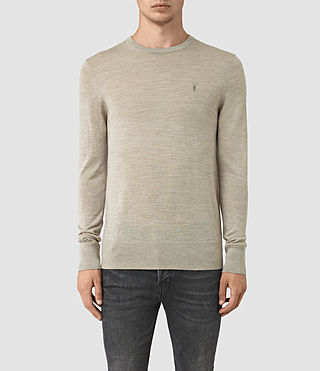 Mens Mode Merino Crew Sweater (Smoke Grey Marl) - product_image_alt_text_1