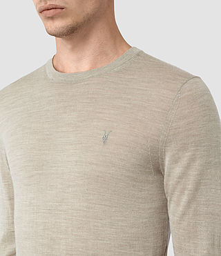 Mens Mode Merino Crew Sweater (Smoke Grey Marl) - product_image_alt_text_2