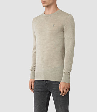 Hommes Mode Merino Crew (Smoke Grey Marl) - product_image_alt_text_3