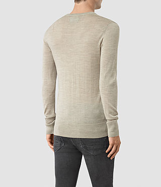 Mens Mode Merino Crew Sweater (Smoke Grey Marl) - product_image_alt_text_4