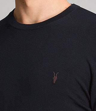 Men's Mode Merino Crew Jumper (Ink) - product_image_alt_text_2