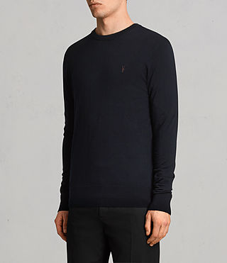 Men's Mode Merino Crew Jumper (Ink) - product_image_alt_text_3
