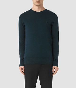 Hommes Mode Merino Crew (Midnight Blue)