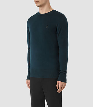 Hombres Mode Merino Crew Jumper (Midnight Blue) - product_image_alt_text_2