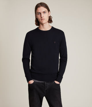 Mens Mode Merino Crew Sweater (INK NAVY) - product_image_alt_text_1