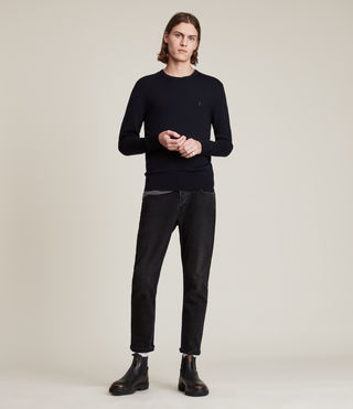 Mens Mode Merino Crew Sweater (INK NAVY) - product_image_alt_text_3