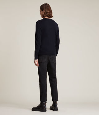 Mens Mode Merino Crew Sweater (INK NAVY) - Image 4