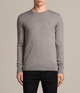 Men's Mode Merino Crew Jumper (PUTTY GREY MARL) - product_image_alt_text_1