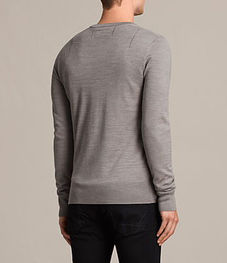 Men's Mode Merino Crew Jumper (PUTTY GREY MARL) - product_image_alt_text_4