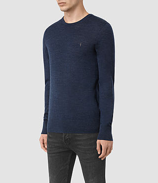 Hommes Mode Merino Crew Jumper (BALTIC BLUE MARL) - product_image_alt_text_3