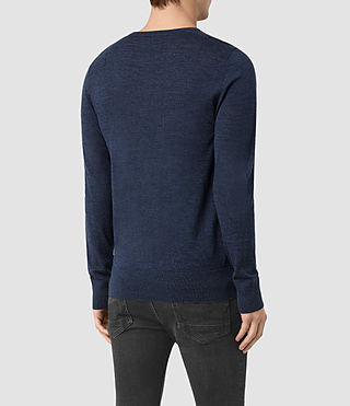 Hommes Mode Merino Crew Jumper (BALTIC BLUE MARL) - product_image_alt_text_4