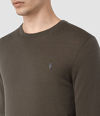 Hommes Mode Merino Crew (Pewter Brown) - product_image_alt_text_2