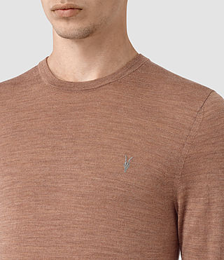 Uomo Mode Merino Crew Jumper (FIG PINK MARL) - product_image_alt_text_2