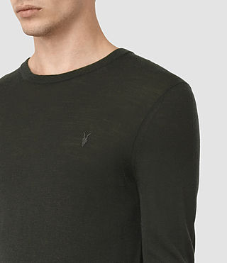 Herren Mode Merino Crew Jumper (Shadow Green) - product_image_alt_text_2