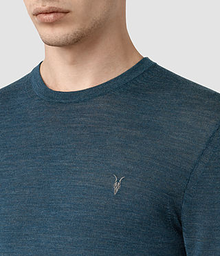Herren Mode Merino Crew Jumper (UNIFORM BLUE) - product_image_alt_text_2