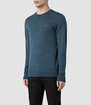 Herren Mode Merino Crew Jumper (UNIFORM BLUE) - product_image_alt_text_3