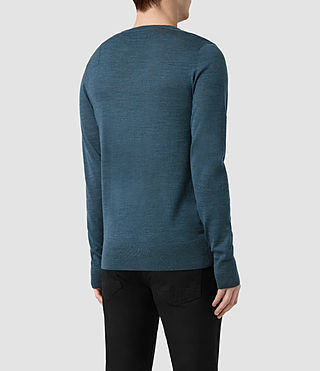 Herren Mode Merino Crew Jumper (UNIFORM BLUE) - product_image_alt_text_4