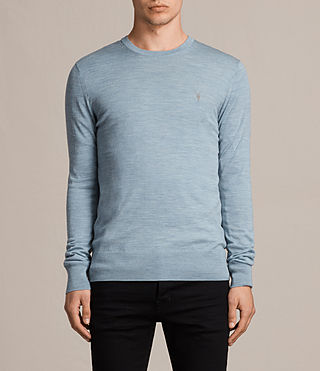 Hombre Mode Merino Crew Sweater (NORDIC BLUE MARL) - product_image_alt_text_1