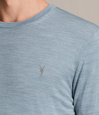 Mens Mode Merino Crew Sweater (NORDIC BLUE MARL) - product_image_alt_text_2