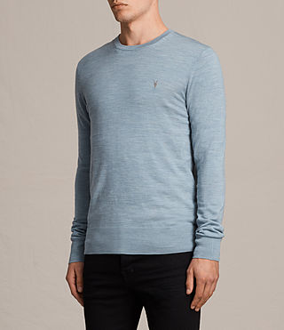 Mens Mode Merino Crew Sweater (NORDIC BLUE MARL) - Image 3