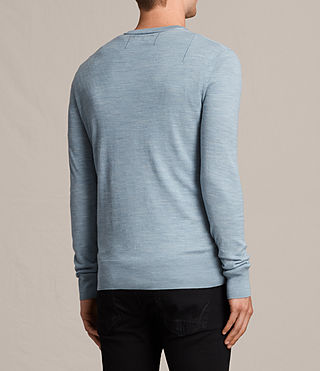 Mens Mode Merino Crew Sweater (NORDIC BLUE MARL) - Image 4