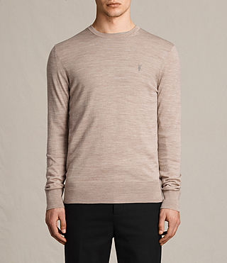 Hombre Mode Merino Crew Sweater (OAT PINK MARL) - product_image_alt_text_1