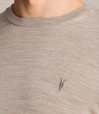 Hombre Mode Merino Crew Sweater (OAT PINK MARL) - product_image_alt_text_2